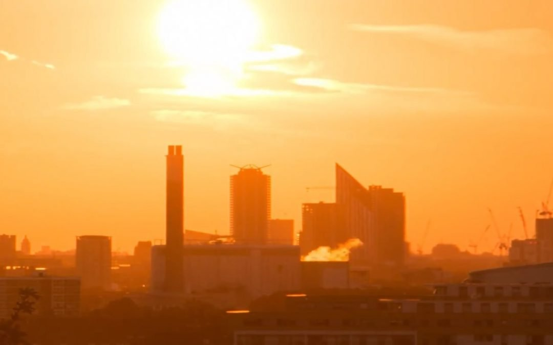 Still from a timelapse video of Greenwich at Sunset