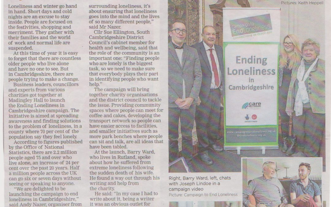 Cambridge Independent: Loneliness Feature